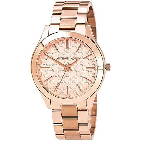 Michael Kors MK3336 - Reloj con correa de acero para mujer, color rosa / gris