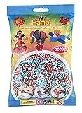 Hama 201-91 - Beutel mit 3000 Gestreiften Perlen, Blau/Rot/Schwarz
