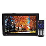 VBESTLIFE DVB-T-T2 TV Portatile TV analogica Digitale TV Portatile, risoluzione 1024x600, RMVB/Avi/MPEG/MKV/MOV 1080P Video, 10 Pollici
