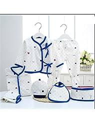 SHISHANG Ensemble à 7 pièces Boîte à cadeau pour bébé Boîte à bébé en pur coton Chaussette pour garçon Adapté pour 0-3 mois Boîte cadeau pour nouveau-nés Coton pur (100%) Forfait cadeau Four Seasons