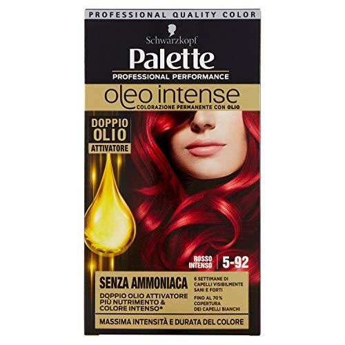 Schwarzkopf, Palette Oleo Intense, Colorazione Permanente, Senza Ammonianca con Doppio Olio Attivatore, 5-92 Rosso Intenso
