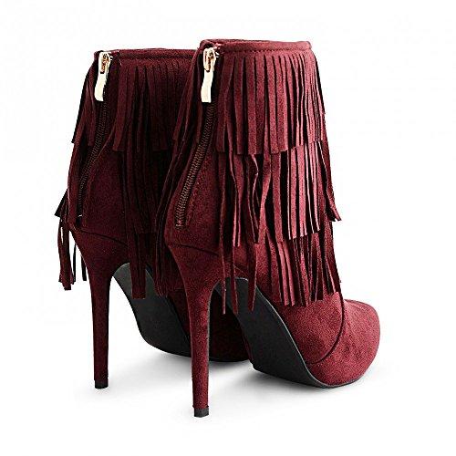 Kick Footwear, Scarpe da barca donna Borgogna