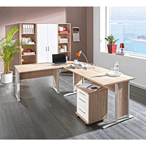 Büro einrichten - komplettes Arbeitszimmer mit Winkelschreibtisch