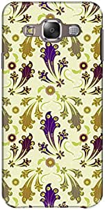 The Racoon Grip printed designer hard back mobile phone case cover for Samsung Galaxy E5. (Purple Tri)
