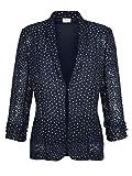 MONA Damen Blusenjacke mit floraler Stickerei Pflegeleicht 52