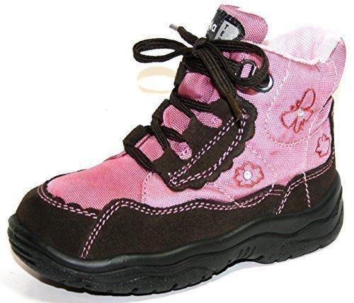 Jela - Chaussures d'Enfants de Fille 61.121 Bottes Souliers Rose (marron foncé/rose 72)
