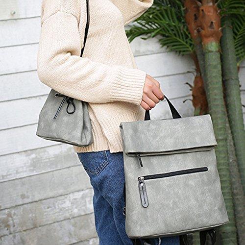 Scuola Di Donne Fashion College Di Viaggio Borsa A Tracolla Borsa Zaino Due Borsa Multicolore Grey