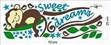 WallstickersDecal Süße träumen schlafend Affe am Baum Reben Wandtattoo Wandaufkleber für WallstickersDecal Süße träumen schlafend Affe am Baum Reben Wandtattoo Wandaufkleber
