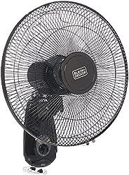 Black+Decker 55 W 16 Inch 3 Speed Wall Fan, Black, FW1620-B5
