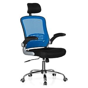 Hjh Office Vendo Net Silla de oficina Multicolor (Blue/Black) 50x58x113 cm