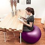 Gymnastikball »Orion« / Robuster Sitzball und Fitnessball von 55cm 65cm 75cm & 85cm inklusive Ballpumpe! / 85 cm / schwarz -