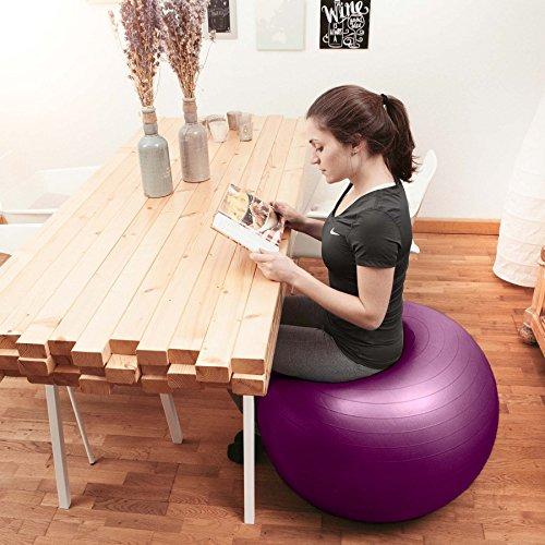 Gymnastikball »Orion« / Robuster Sitzball und Fitnessball von 55cm 65cm 75cm & 85cm inklusive Ballpumpe! / 65 cm / schwarz - 6