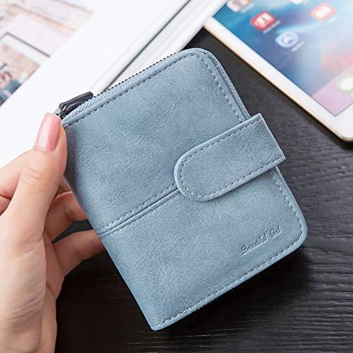Kleine Snap Wallet (PVNKIT Brieftasche Frauen Kleine Geldbörse Weiblichen Kurzen Reißverschluss Dünne Frauen Geldbörsen Haspe Und Kupplung Münzfach Hohe Qualität)