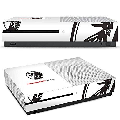 DeinDesign Microsoft Xbox One S Folie Skin Sticker aus Vinyl-Folie Aufkleber SC Freiburg Fanartikel Fussball