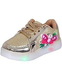 Sim Style Kids LED Light Golden Shoe