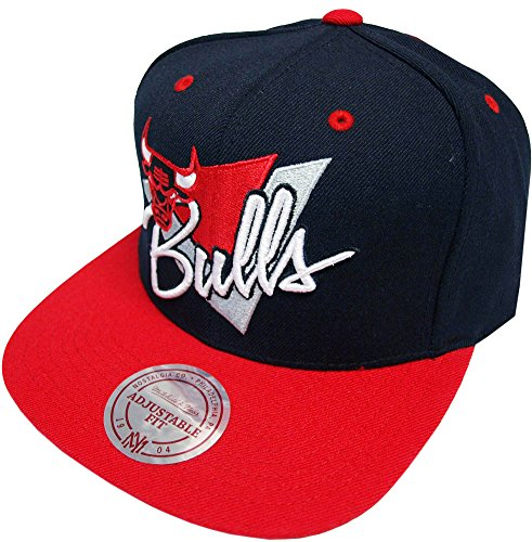 Mitchell & Ness Chicago Bulls Snapback Cap NY99Z Triangle script Basecap and