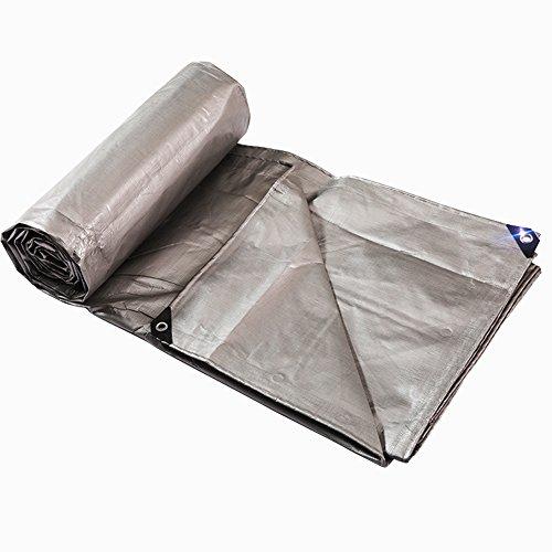 Heavy Duty Tarp wasserdichte Plane Cover Silber Multi-Purpose, ideal für Plane Canopy Zelt, Boot oder Pool-Abdeckung, 220G / M² (größe : 10 * 12 m)