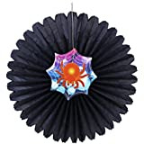 Partysanthe Halloween Spider Web Accordion Hanging Paper Fan Decoration New