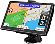 Jimwey Navigationsgerät für Auto Navi LKW Navigation 7 Zoll 16GB Lebenslang Kostenloses Kartenupdate mit POI B