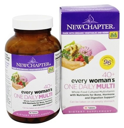 New Chapter Every Woman's One Daily Multivitamin 40+ -- 96 Tablets