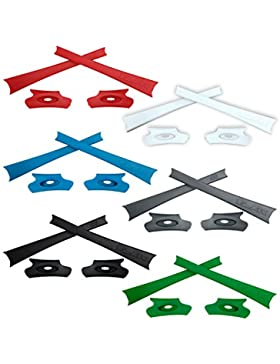 HKUCO Red/Blue/Black/White/Grey/Green Replacement Rubber Kit For Oakley Flak Jacket /Flak Jacket XLJ Sunglass...