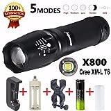 Tongshi 5000 lúmenes G700 LED Zoom linterna X800 militar Lumitact antorcha cargador [Clase de eficiencia energética A+++]