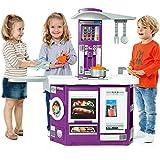 Spielküche in Lila mit Waschmaschine und 13 teiligem Zubehör 97 x 100 cm • Kinderküche Spielzeug Kinderspielküche Küchengeräte