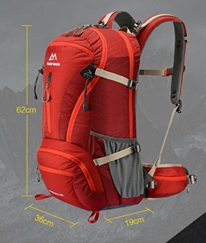 zaino esterno/zaino/borsa Trekking/sacchetto di alpinismo-Nero 40L Nero