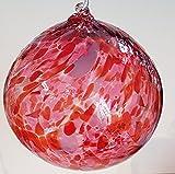 Kugel zum hängen bunte Glaskugel Ornament rot bunt mundgeblasenes Kristallglas Fensterdekoration Durchmesser ca.13 cm Oberstdorfer Glashütte