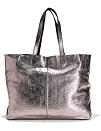 6e95493034 La Redoute Collections Donna Borsa Shopping Double Face In Pelle