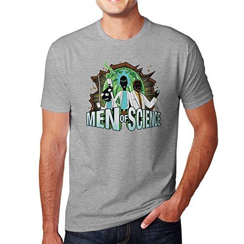 Planet Nerd - Men of Science - Herren T-Shirt, Größe S, grau meliert (Jungen Rick Kostüm)