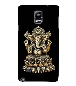 Lord Ganesha 3D Hard Polycarbonate Designer Back Case Cover for Samsung Galaxy Note 4 N910 :: Samsung Galaxy Note 4 Duos N9100