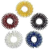 UEETEK 5 Medicina China digitopuntura masaje anillos (oro/plata/negro/azul/rojo)