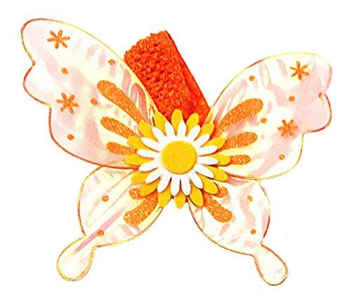 Kostüm Pet Schmetterling - Dempsey Marie Pet Schmetterling Flügel Kostüm für Hunde Oder Katzen, One Size, Orange