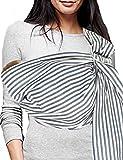 Vlokup Babytragetücher Baby-Verpackung Ring Sling Vorlage 100% Baumwolle Einstellbare Babytrage Baby leicht wattierte Black Stripe