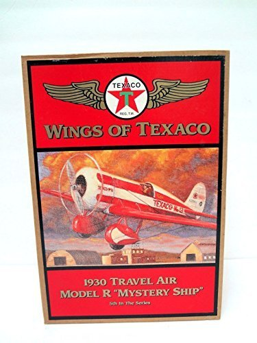 wings-of-texaco-1930-travel-air-model-r-mystery-ship-die-cast-model-coin-bank-5th-in-the-series