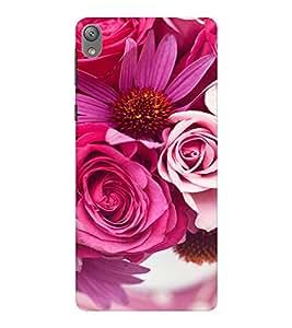 EPICCASE Pink roses Mobile Back Case Cover For Sony E5 (Designer Case)