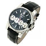 Orologio Eberhard CHRONO 4 31041_CP Automatico Acciaio Quandrante Bianco Cinturino Pelle