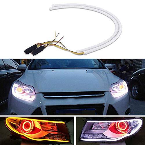 Preisvergleich Produktbild 2x 60cm Auto Sequential Scheinwerfer LED Strip Lights Dynamic Blinker Lampe
