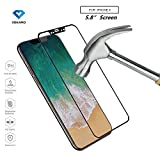 [1 Stück] iPhone X Displayschutzfolie, VOKAMO [Full Coverage] Ultra Slim Tempered Glass, 3D Curved...