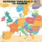 Europa V.19 ★ Profi Outdoor Topo Karte ★ Topografische Europakarte kompatibel zu Garmin Navigation ★ Oregon 600, Oregon 600t, Oregon 650, Oregon 650t, Oregon 700, Oregon 750, Oregon 750t
