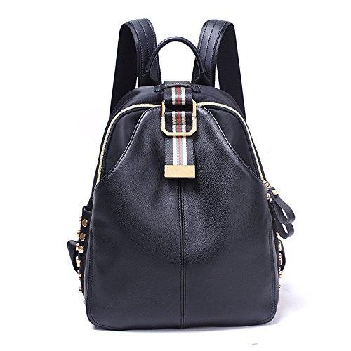 Mefly Donna zaino borse moda nero a campana Trumpet black