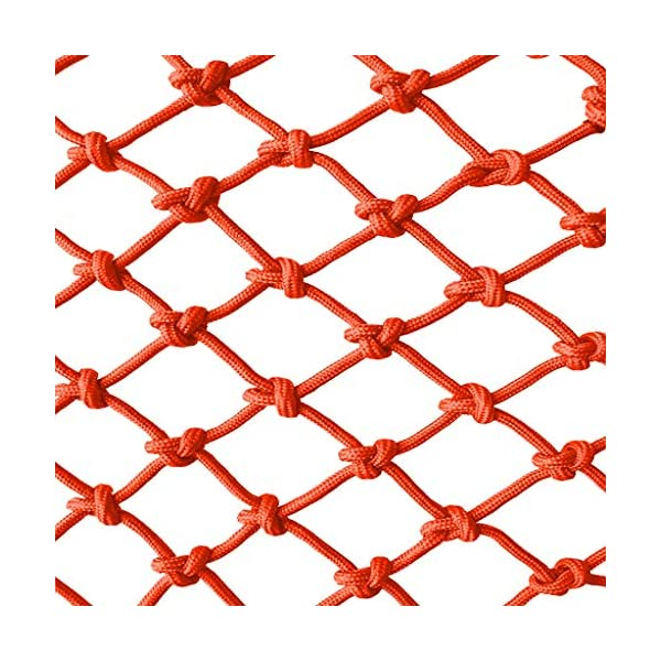 Orange Child safety net protective net balcony stairs anti-fall net kindergarten color decorative net fence network Width 1/4M Length 1M /9M Hand braided traditional structure (Size : 4 * 5m)  [Protect children's safety]: Many children fall from the building, let us understand that the safety of children can not be ignored. [Polyester knotless woven mesh]: The mesh surface has large pulling force, and the double needle has no knot woven mesh hole, so that the mesh has stronger impact resistance. [wire diameter 6MM, mesh spacing 4CM]: Escort for baby safety.(Others available in our shop) 1