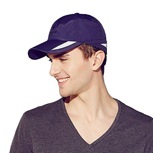 Kenmont Hommes d'été Casquette de Baseball en Plein air Protection UV visière Sportive Chapeau (Bleu foncé)