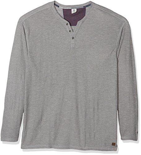 LERROS Große Größen Herren Langarmshirt Grau (Steel Grey 231)