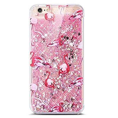 Samidy Iphone SE Bling Liquid Case, Sparkle Case for Iphone 5/5s/SE with a Screen Protector