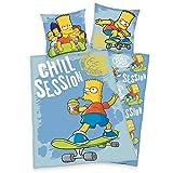 Lizenz Bettwäsche Simpsons 135x200cm Reißverschluss Wendemotiv Herding
