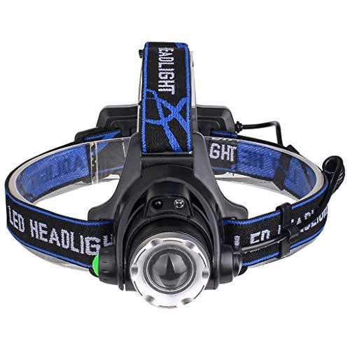 head Lamp Lampe Frontale LED Torche Frontale par USB Rechargeable Super Lumineux 2000 Lumen 4 Modes Imperméable Ajustable pour Marche Running Camping