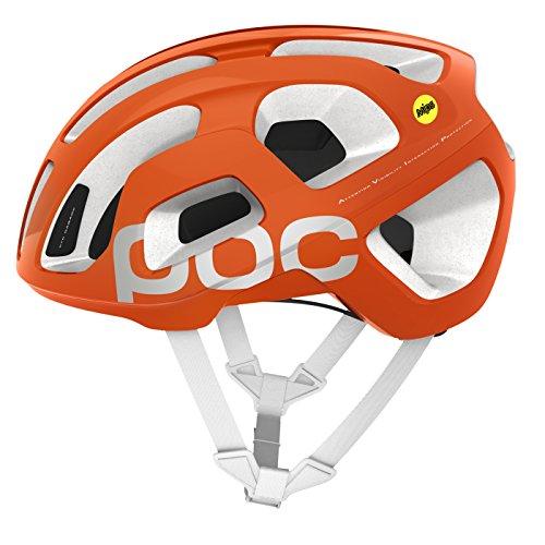 POC Octal Avip Mips Casco, Unisex Adulto, Naranja (Zink Orange) / Blanco (Hydrogen White), L