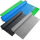 Pavimenti in Pvc Rotoli - Rivestimento Pavimento Garage | Tappeto in Gomma Antiscivolo Bollato e Plastificato - 2.2 mm - 120x150 cm - Nero